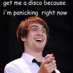 At the disco Emo Bands, Music Bands, Music Is Life, My Music, Brendon Urie, Band Memes, Panic! At The Disco, Paramore, Fall Out Boy