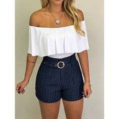 Source by amugrtegui juvenil femenina moda Summer School Outfits, Trendy Summer Outfits, Cute Casual Outfits, Short Outfits, New Outfits, Pretty Outfits, Fashion Outfits, Elegante Shorts Outfit, Smart Casual Women