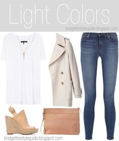 NEW POST!  Light Colors  Check it out on my blog!  http://bridgettesstyleguide.blogspot.com/2014/06/light-colors.html  #liketkit www.liketk.it/RaM @liketkit #white #top #tshirt #ootd #outfit #shoes #style #summer #spring #denim #fall #fashion #fblogger #heels #wedges #jacket #jewelry #necklace #bag #blogger #casual #clutch #clothes #jeans #stevemadden #jbrand #ragandbone #Zimmermann #jenniferfisher