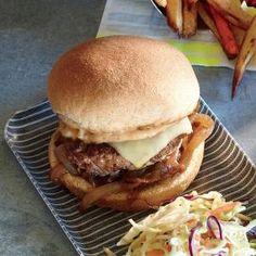 Caramelized Onion Burgers | MyRecipes.com