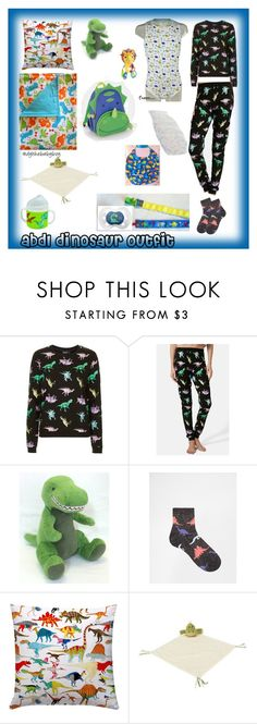 """abdl dinosaur outfit"" by dylthebabyboy ❤ liked on Polyvore featuring Topshop, ASOS, Chá com Letras, Jellycat, Skip Hop, little, littleboy, littlespace, abdl and ddlb"