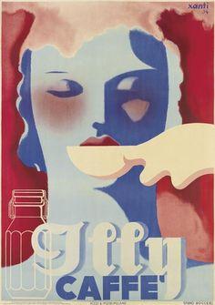 Modernist Schawinsky poster Illy Caffe 1934