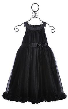 Oopsy Daisy Black Chiffon Girls Dress my 3yr love's hers!