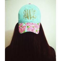Belleoftheball45: monogram lilly pulitzer inspired hat