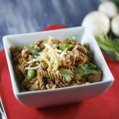 Enjoy the flavor of BBQ in this Healthy BBQ Chicken Pasta.