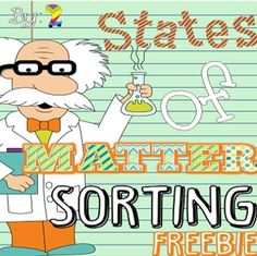 "Do your kiddos know their States of Matter? Find out!   Have a great science unit on Solids, Liquids, and Gases planned but need something fun to see if the kiddos are ""getting"" it? Give them this sorting activity where they can draw or cut out pictures to show their knowledge of solids, liquids, and gases."