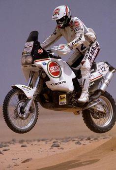 1989 Pharaones Rally. Edi Orioli.