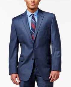 Calvin Klein Blue Slim-Fit Jacket - Blazers & Sport Coats - Men - Macy's