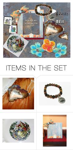 The Earth has Music by owlartshop on Polyvore featuring art, EtsyTeamUnity and artflashmob28
