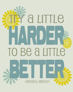 Inspirational Quote  Try a little harder  8x10 art by Lexiphilia, $12.00