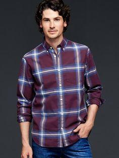 Stone plaid twill shirt Product Image