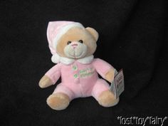 "6"" Wal-mart Walmart Baby's 1st Christmas 2012 Pink Dot Bear Plush Stuffed Toy WT #walmart"