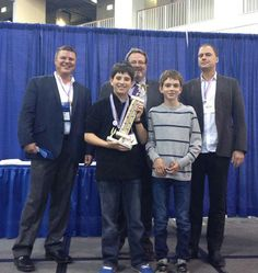Winners of the 2012 Young Inventor Challenge at the Chicago Toy & Game Fair www.younginventorchallenge.com