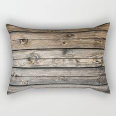 wooden wall background Rectangular Pillow