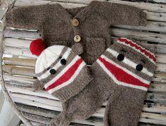 felt baby sock monkey pattern - Google Search