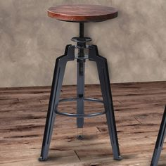 Found it at AllModern - Tribeca Adjustable Height Swivel Bar Stool