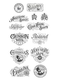 https://www.behance.net/gallery/43986679/Collection-of-hand-drawn-Logotypes-from-2016
