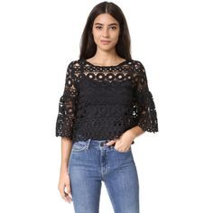 Style Mafia Kiana Top - I have some crocheted fabric leftover from my last project . Trendy Outfits, Fall Outfits, Summer Outfits, Summer Clothes, Mafia, Fashion Vocabulary, Spring Street Style, Lace Tops, Ladies Dress Design