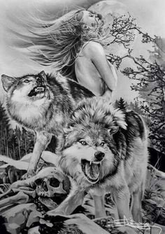As aesthetically pleasing as tattoos are, they can be costly and require a lot of time, effort, and patience. Wolf Tattoos, Animal Tattoos, Body Art Tattoos, Wolf Tattoo Design, Wolf Design, Fenrir Tattoo, Wolves And Women, Wolf Spirit Animal, Wolf Wallpaper