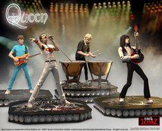 The Queen Rock Iconz® collectible statue set Brian May, Freddie Mercury, Hand Cast, It Cast, Superman, Batman, Pop Action Figures, Roger Taylor, Queen Art