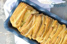 Zupfbrot / Partybrot mit Kräutern in Kastenform gebacken. Thermomix-Rezept