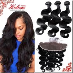 86.08$  Watch here - http://alionq.worldwells.pw/go.php?t=32680646641 - 7A Grade Unprocessed Brazilian Virgin Hair Bundles With Lace Frontal Body Wave Lace Frontal Closure With Bundles Fast Shipping 86.08$