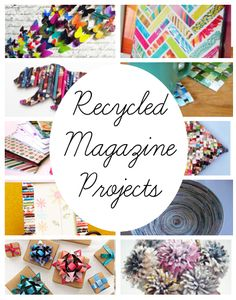 diy home sweet home: Recycled Magazing Projects projects Recycled Magazine Projects Newspaper Crafts, Book Crafts, Fun Crafts, Diy And Crafts, Arts And Crafts, Recycled Magazine Crafts, Recycled Magazines, Old Magazines, Upcycled Crafts