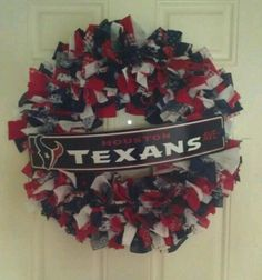Houston Texans fabric wreath