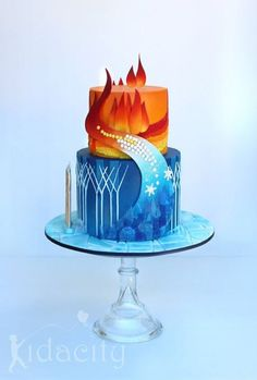 Kidacity - Fire and Ice cake