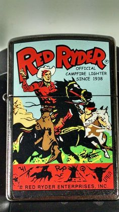 Red Ryder Zippo Lighter RARE Lighter. New SEALED in Collectibles, Tobacciana, Lighters   eBay Zippo Lighter Rare, Cool Zippos, Zippo Usa, Vintage Ads, Cigar, Coffin, Seal, Fire, Pocket
