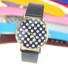BOWISE 10 colors New Arrival Fashion Geneva Watch Leather Dots Wacth Women Dress watch 1piece/lot