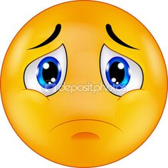 Caricature d'emoticon smiley triste — Illustration #63465181