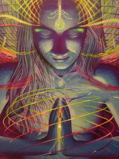 Poster Art visionnaire psychédélique par DivineMindTraveler