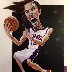Steve Nash: Did this for an autograph hunter.