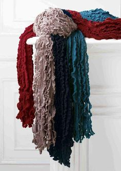 Scarfs scarfs and more scarfs! I like solids, patterns, different types of fabrics, etc. Bow Scarf, Scarf Top, Ways To Wear A Scarf, How To Wear Scarves, Diy Craft Projects, Fun Crafts, Diy Fashion Accessories, Build A Wardrobe, Warm Outfits