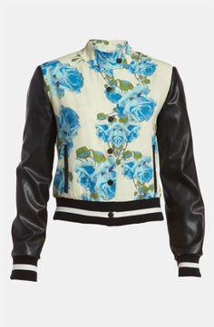 Rose Letterman Jacket