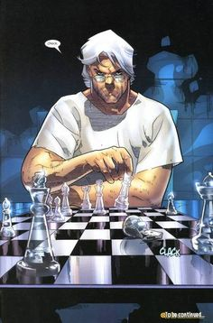 Magneto playing chess