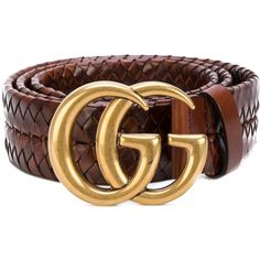 Gucci Interlocking GG buckle belt ($1,100) ❤ liked on Polyvore featuring men's fashion, men's accessories, men's belts, brown, mens brown belt and gucci mens belt