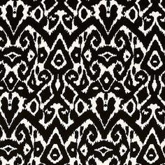 Black Cream Ethnic Ikat Nylon Spandex Knit Fabric