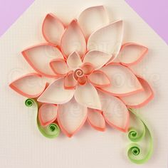 Paper Zen: Quilling Tutorial: Outlined Flowers