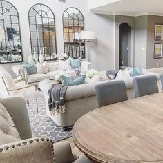 Fan Photo of the Week: Open floor plans can be difficult to maneuver but @onepiece_at_a_time_design nails this decor with a mix of rustic and relaxed. Tap the link in our bio to shop all the Z Gallerie furniture + decor featured!