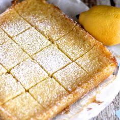 Lemon bars made using an entire lemon!