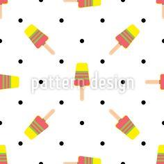 Ice Cream Dance Pattern Design Pattern Design by Elena Alimpieva at patterndesigns.com