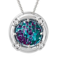 Galatea DavinChi Cut Blue Topaz Necklace