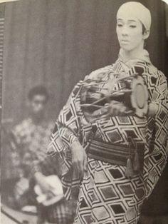 23-year old Bando Tamasaburo during dance rehearsals.
