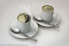 Coffee in a can? Another of photographer Giuseppe Colarusso's highly unusual pictures