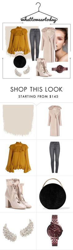 """""""What to wear today?"""" by adela-maria ❤ liked on Polyvore featuring Diane Von Furstenberg, Chloé, Paige Denim, Valentino, Eddie Borgo, FOSSIL, natural and couture"""