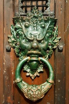 Scary door knocker!