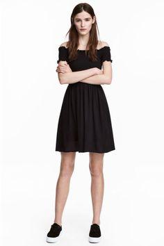 Sukienka z marszczeniem - Czarny - ONA | H&M PL 1