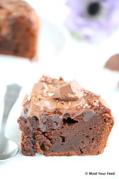 Salted caramel brownie taart - Mind Your Feed